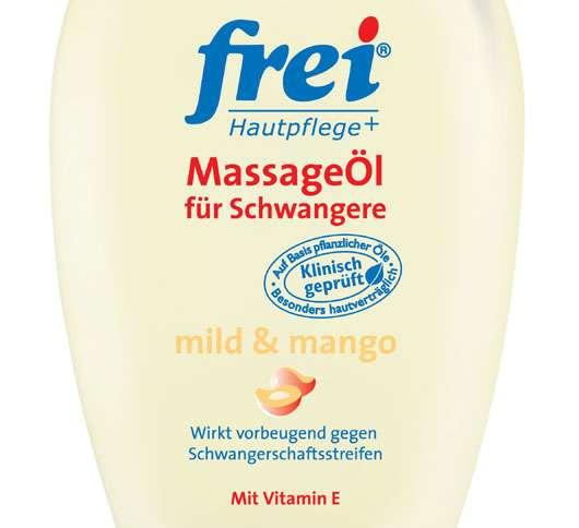 frei® MassageÖl für Schwangere mild&mango