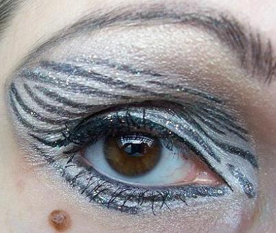 zebra augen schminken