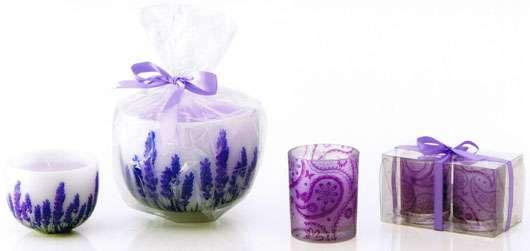 Kerzen mit Lavendeldekor von Douglas