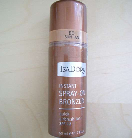 test bronzer isadora instant spray on bronzer. Black Bedroom Furniture Sets. Home Design Ideas