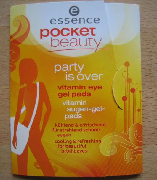 essence pocket beauty party is over vitamin eye gel pads