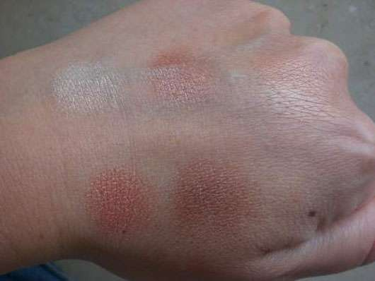 Swatches von essence sun club all over shimmer for eyes, body & face