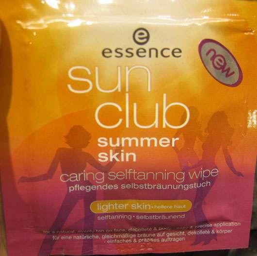 essence Sun Club pflegendes Selbstbräunungstuch