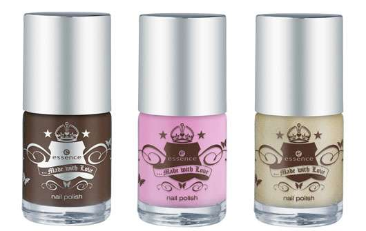 essence made with love nail polish (v.l.n.r.: #01, #02, #03), Quelle: cosnova GmbH