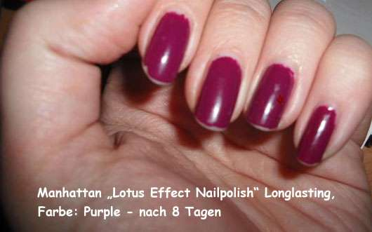 manhattan lotus effect nailpolish longlasting farbe purple nach 8 tagen. Black Bedroom Furniture Sets. Home Design Ideas