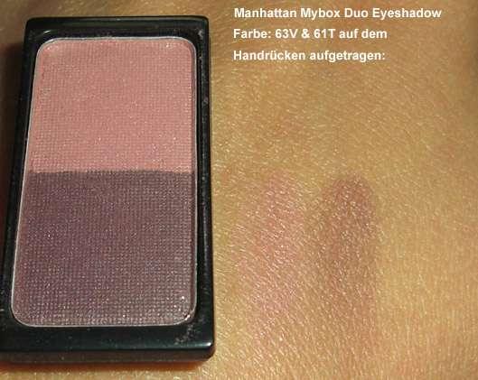 test eyeshadow manhattan mybox duo eyeshadow farbe 63v 61t limited edition. Black Bedroom Furniture Sets. Home Design Ideas