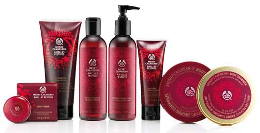 Merry Cranberry Kollektion, Quelle: The Body Shop International PLC