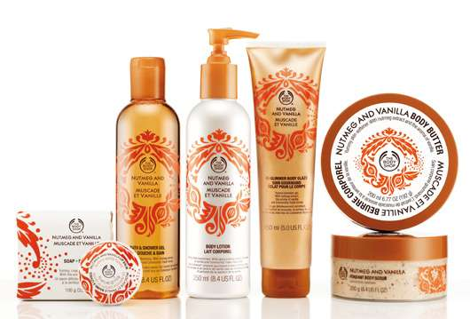 Nutmeg & Vanilla Kollektion, Quelle: The Body Shop International PLC