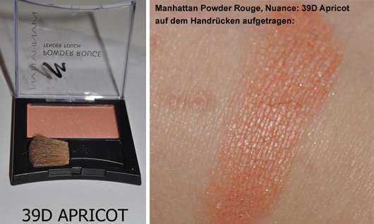 Manhattan Powder Rouge, Nuance: 39D Apricot