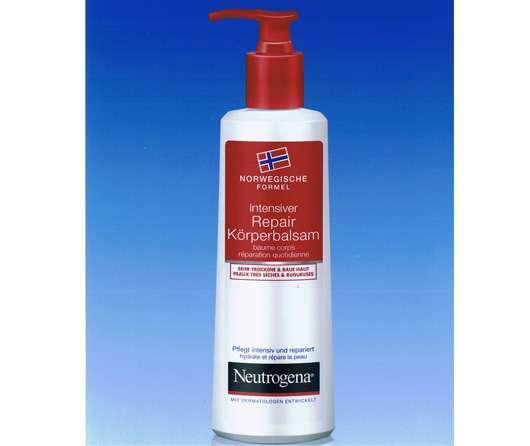 Intensiver Repair Körperbalsam von Neutrogena® Norwegische Formel mit anwenderfreundlichem Pumpspender