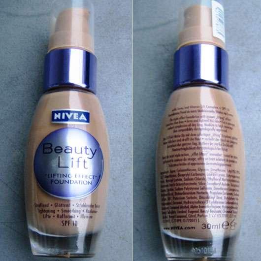 Nivea Beauty Lift Lifting Effect Foundation, Nuance: 60 Amber