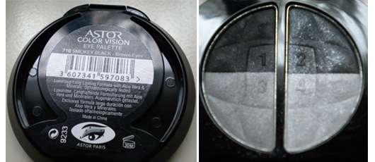 ASTOR Color Vision Eye Palette, Farbe: 710 Smokey Black – Brown Eyes