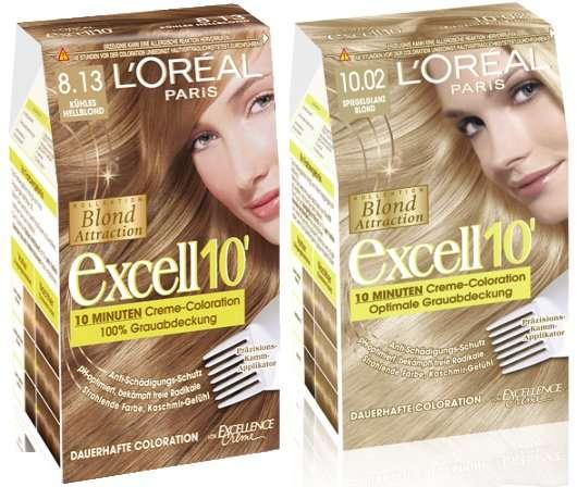 Excell 10 blond attraction von l or al paris pinkmelon - 10 minuten haarfarbe ...