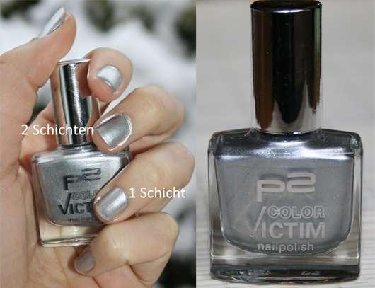 p2 color victim nailpolish, Farbe: 010 glamour
