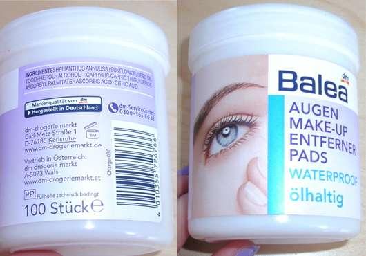 Balea Augen Make-up Entferner Pads waterproof (ölhaltig)