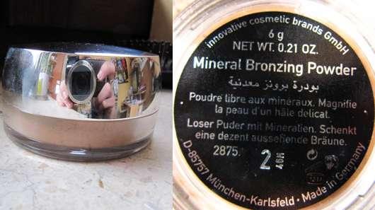 test bronzer make up factory mineral bronzing powder nuance 2 testbericht von lamieze. Black Bedroom Furniture Sets. Home Design Ideas