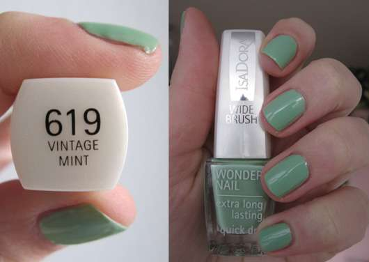 test nagellack isadora wonder nail nagellack farbe 619 vintage mint testbericht von danny. Black Bedroom Furniture Sets. Home Design Ideas
