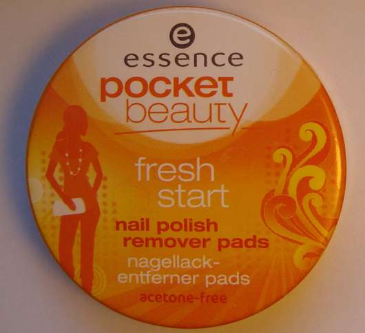 essence pocket beauty fresh start nail polish remover pads