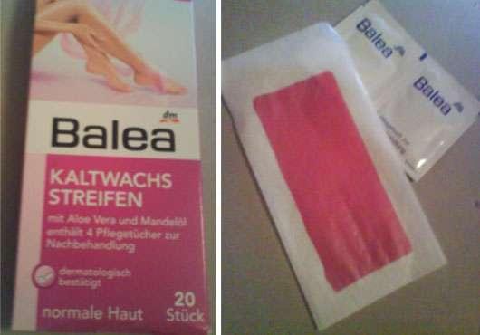 Balea Kaltwachsstreifen mit Aloe Vera und Mandelöl (normale Haut)