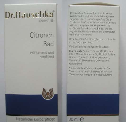Dr.Hauschka Citronen Bad