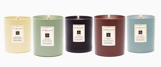 Jo Malone Coloured Candles with Farrow & Ball