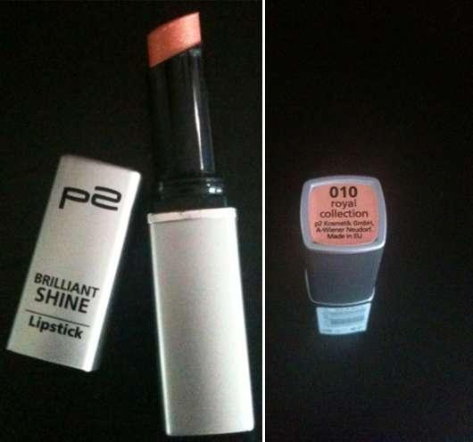 p2 Brilliant Shine Lipstick, Farbe: 010 royal collection
