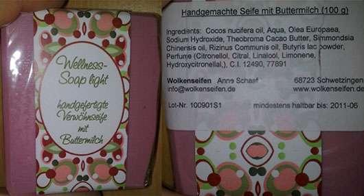 Wolkenseifen Wellness Soap light – Seife mit Buttermilch…wenns schee macht!