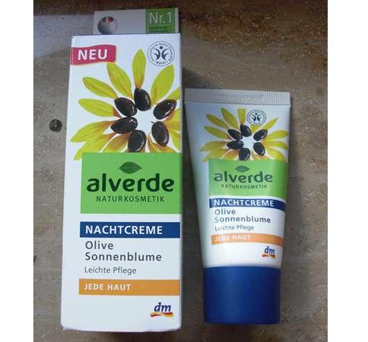 alverde Nachtcreme Olive Sonnenblume