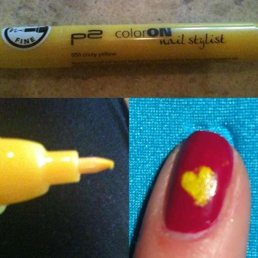 p2 colorON Nail Stylist, Farbe: 050 crazy yellow