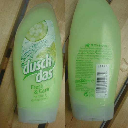 duschdas Fresh & Care Duschgel (mit Minze & Gurken-Extrakt)