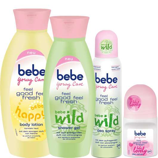 Die neuen feel good feel fresh Produkte von bebe Young Care®
