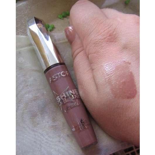 Astor Shine Deluxe Jewels Lipgloss, Farbe: Nude Amber