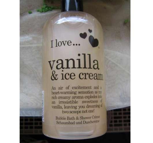 "I Love Cosmetics ""I Love … Vanilla & Ice Cream"" Schaumbad & Duschcreme"