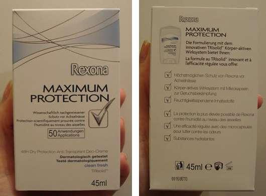 Rexona Maximum Protection Deo-Creme