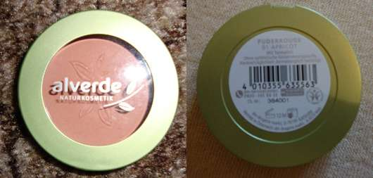 alverde Puder Rouge, Farbe: 01 Apricot