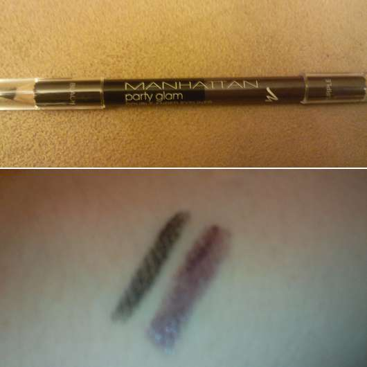 Manhattan Party Glam Double-Ended Eyeliner, Farbe: Black & Purple