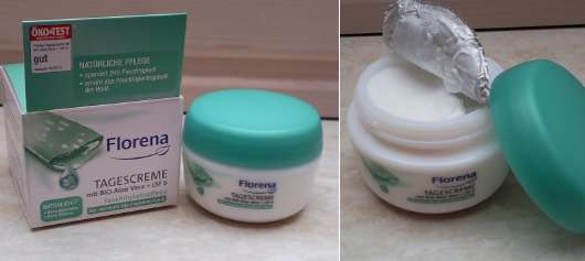 Florena Tagescreme mit BIO-Aloe Vera + LSF 6 (für normale bis trockene Haut)