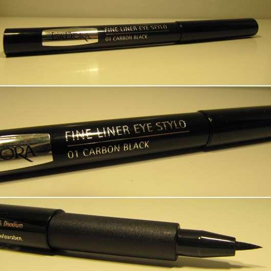 IsaDora Fine Liner Eye Stylo, Farbe: 01 Carbon Black