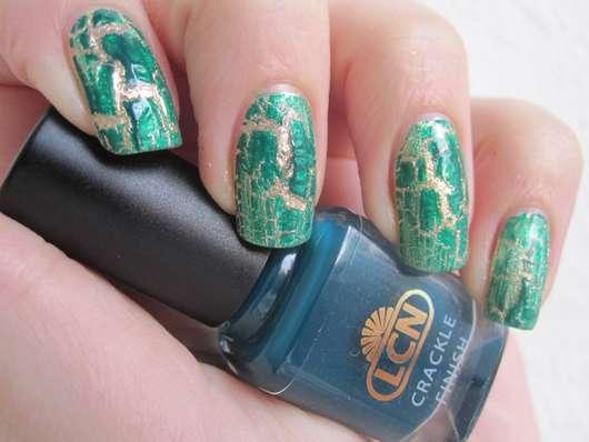 LCN Nail Polish, Farbe: Gold & LCN Crackle Finish, Farbe: Grün