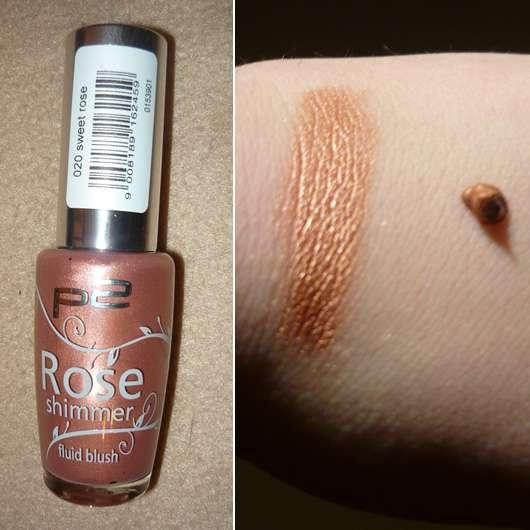 p2 rose shimmer fluid blush, Farbe: 020 sweet rose