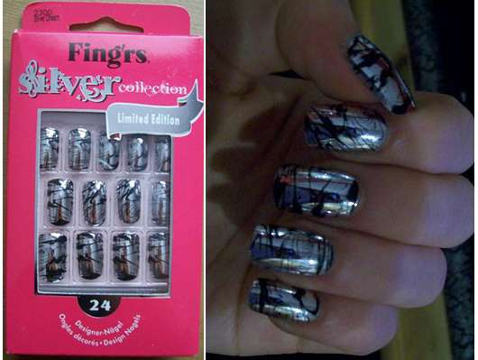 FING'RS Silver Collection Designer Nägel (Limited Edition)