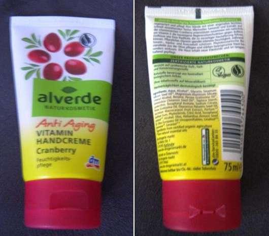 alverde Anti Aging Vitamin Handcreme Cranberry