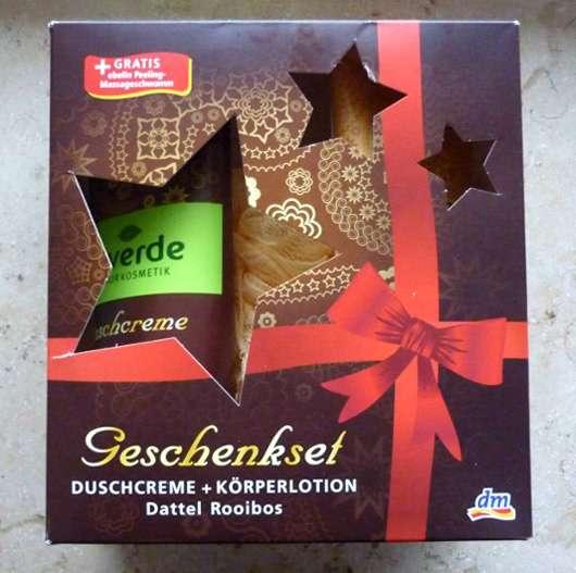 alverde Geschenkset Duschcreme & Körperlotion Dattel Rooibos