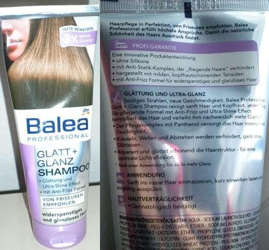 Balea Professional Glatt + Glanz Shampoo – für widerspenstiges & glanzloses Haar