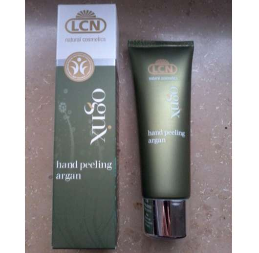 LCN natural cosmetics ognx hand peeling argan