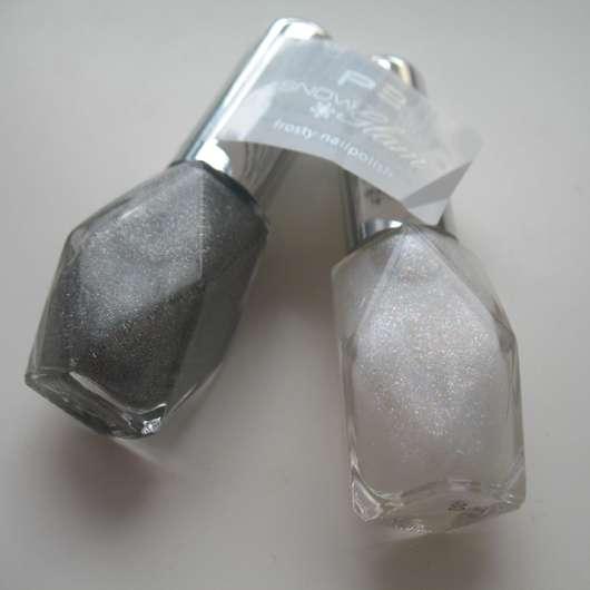 p2 snow glam frosty nailpolish, Farben: 010 Snow White & 030 Glitter Grey