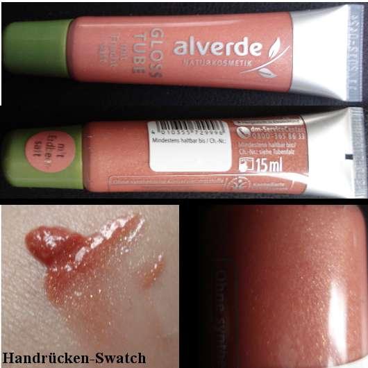 alverde Gloss Tube mit Erdbeersaft