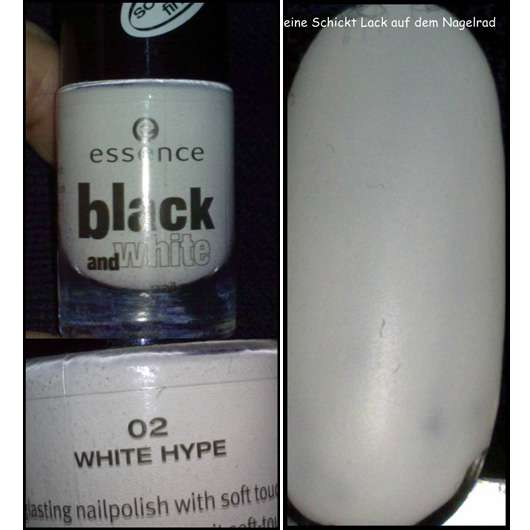 essence black and white nail polish, Farbe: 02 WHITE HYPE (mit soft touch finish)