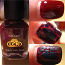 LCN Nail Polish (Farbe: Weinrot) + LCN Crackle Finish (Farbe: Türkis)