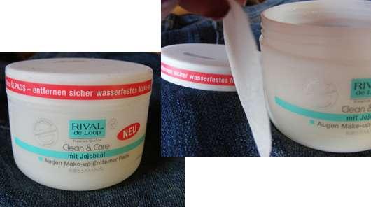 Rival de Loop Clean & Care Augen Make-up Entferner Pads mit Jojobaöl
